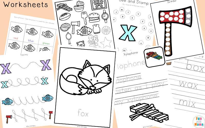Printable Letter X Worksheets For Preschool