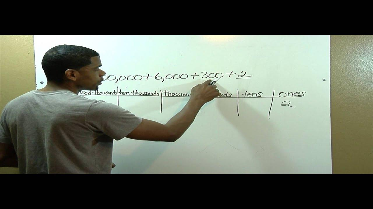 Math Worksheets Expanded Form 5