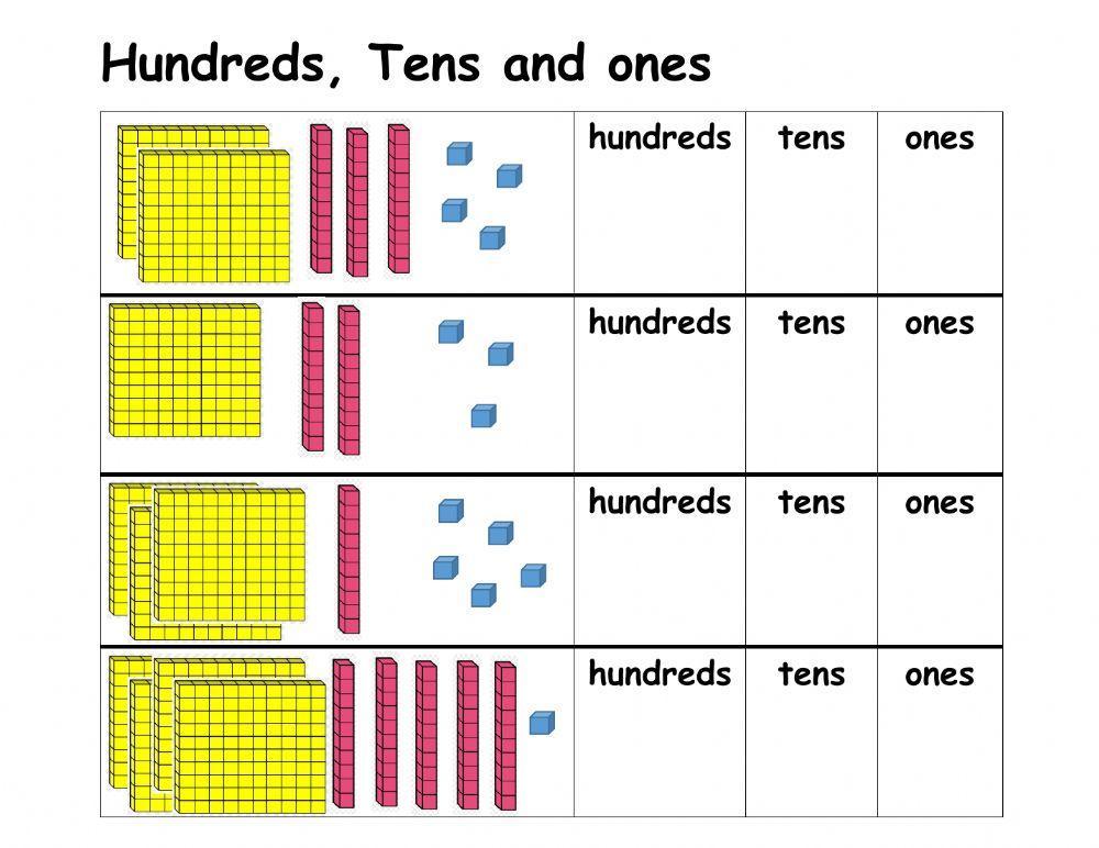 Math Worksheets Hundreds Tens Ones 2