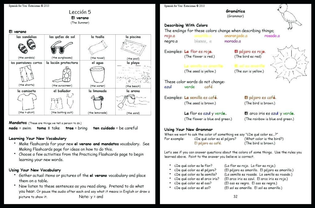Math Worksheets In Spanish And English