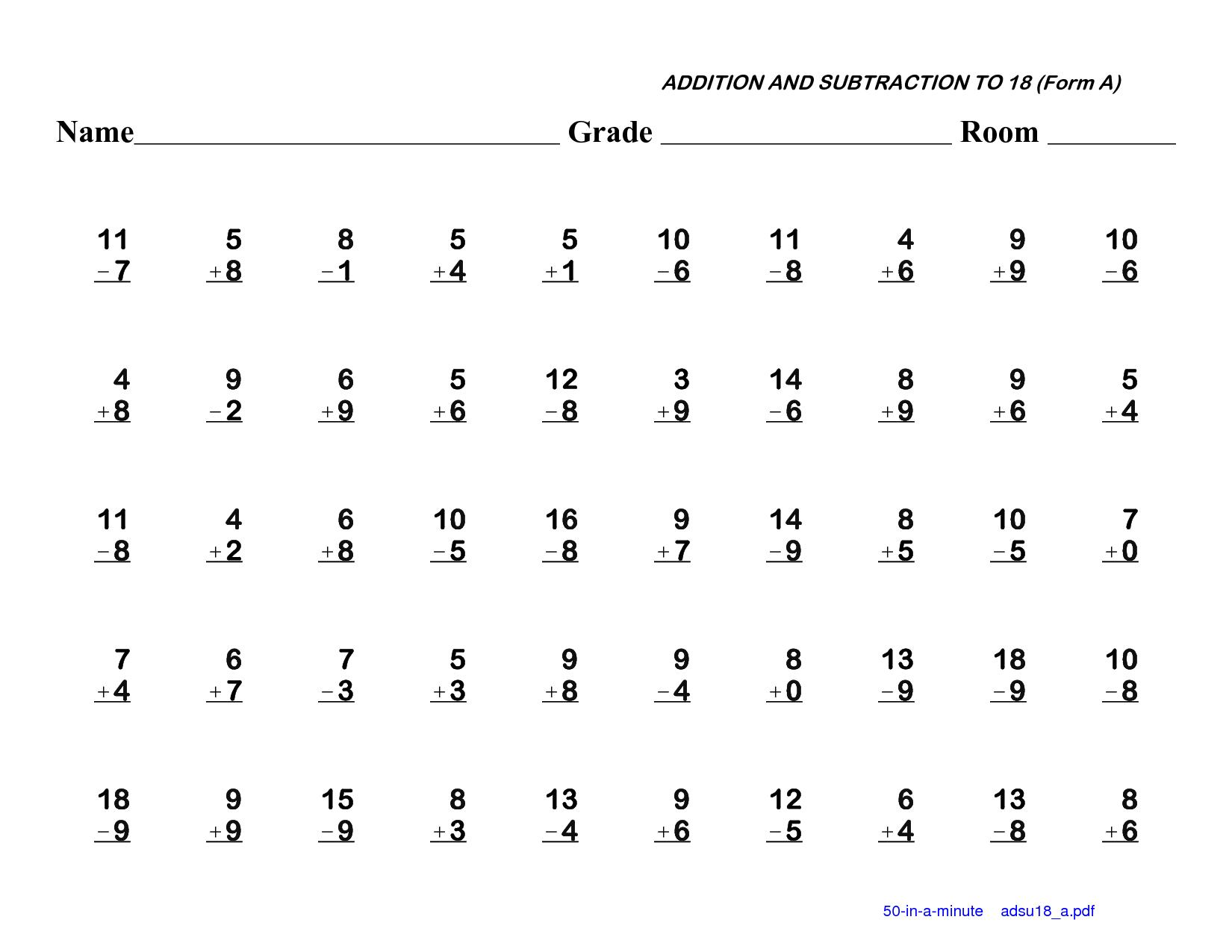 Math Worksheets In Word Document 6