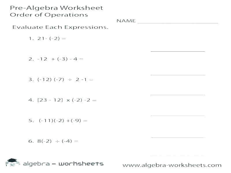 Math Worksheets Integers 1
