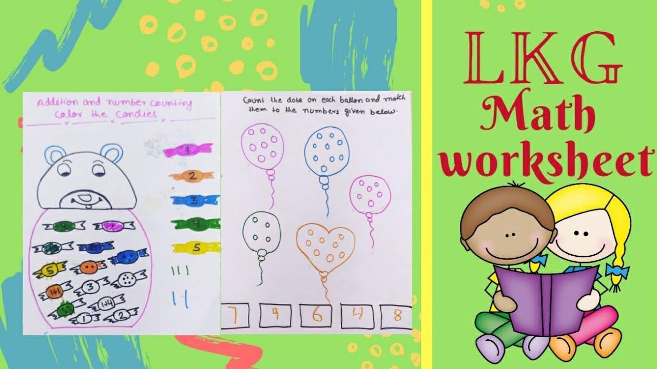 Math Worksheets Lkg Class 2