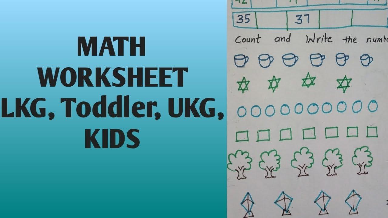 Math Worksheets Lkg Class 3
