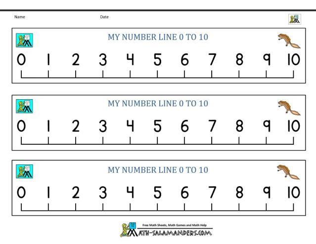 Math Worksheets Number Line