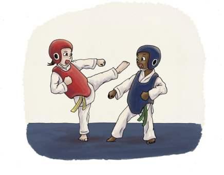 combate taekwondo