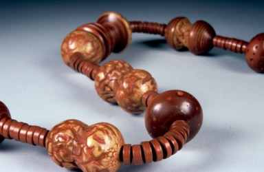 Lathe Turned and Textured Beads