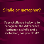 Difference between Metaphor and Simile