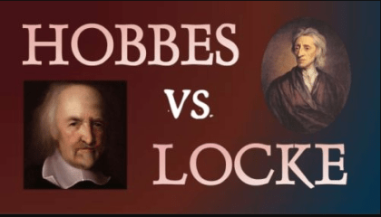 Differences between the Locke and Hobbes Philosophy