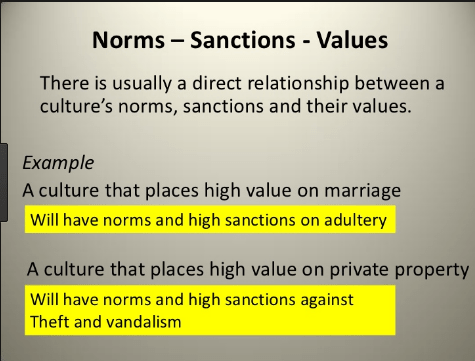 Difference between Norms and Values