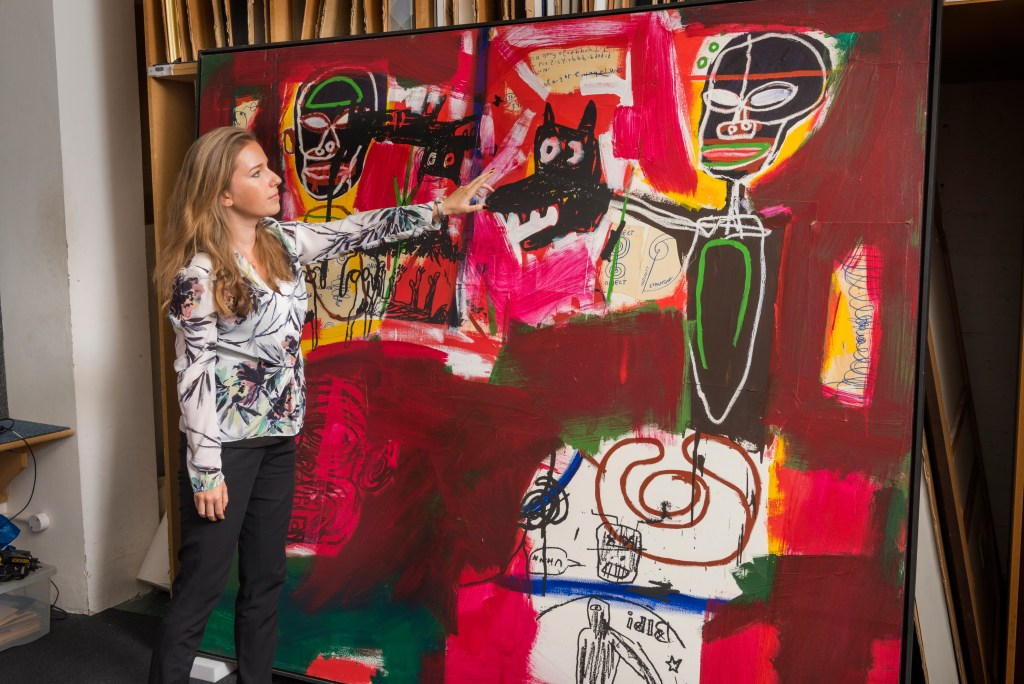 Bojana Popovic and Basquiat