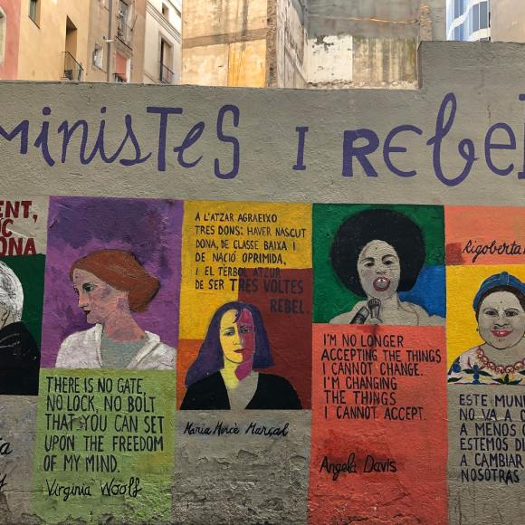 Street art portraits of radical feminists