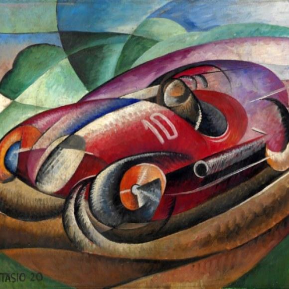 Modern painting by Italian futurist artist Pinterest Ugo Giannattasio
