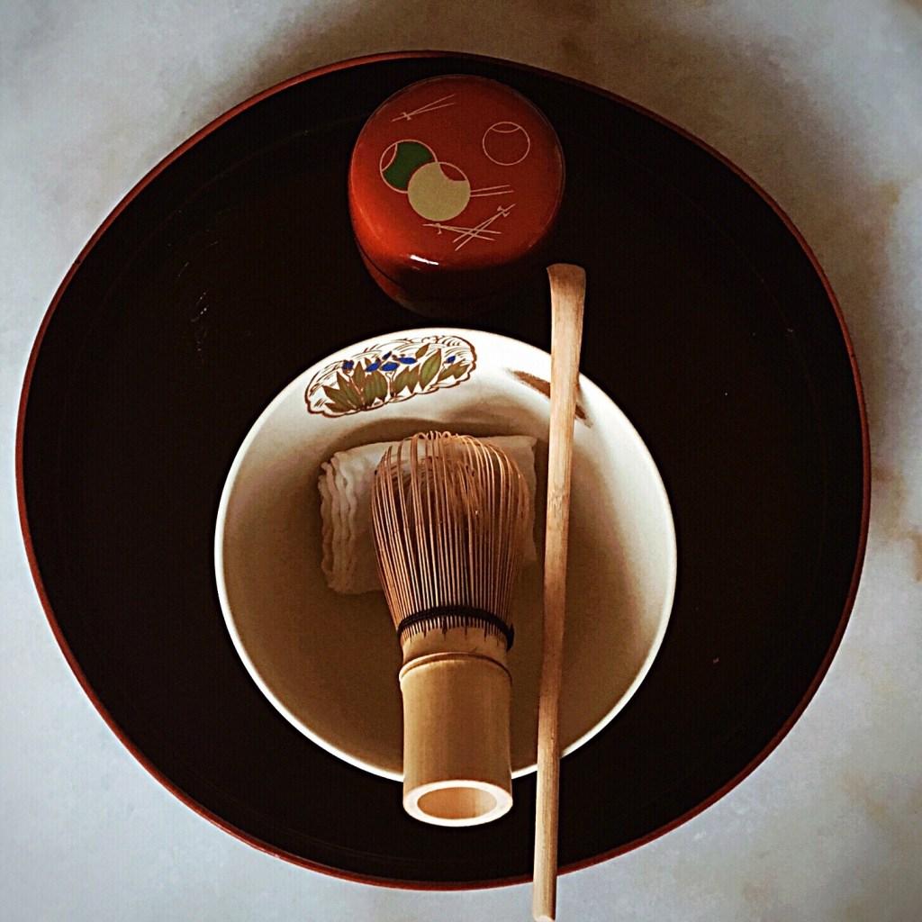 A Japanese tea ceremony set