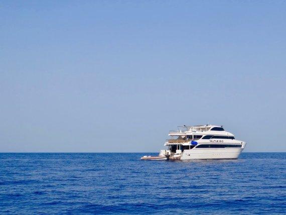 Les destinations de plongée offrent souvent la possibilité de faire des croisière comme ici sur le Nautile Evo en Egypte