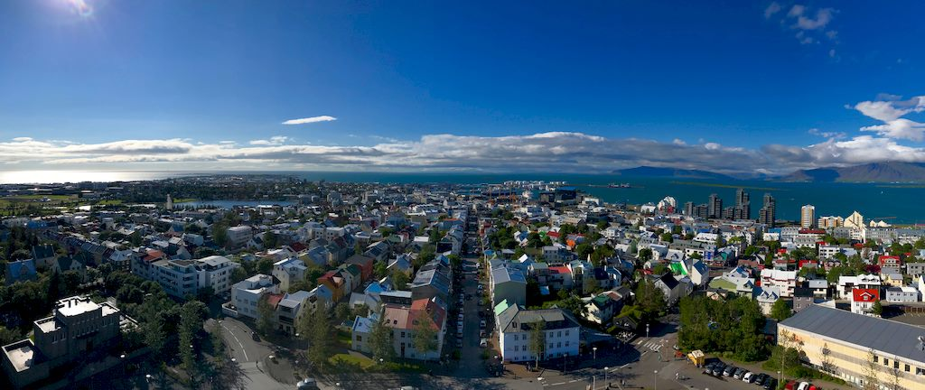 Vue panoramique sur la ville de Reykjavik