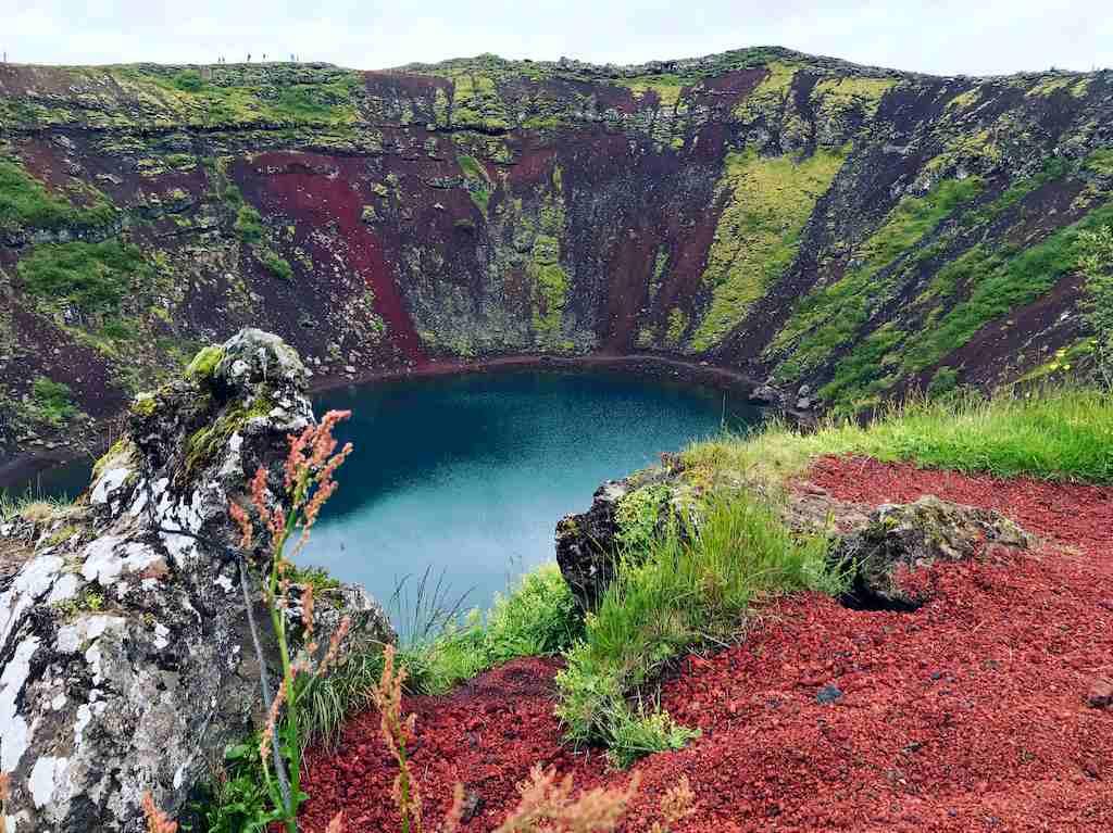 Le volcan Kerio est un incontournable d'un voyage plongée en Islande