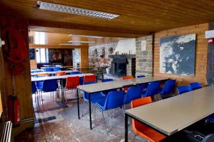 L'intérieur du club house de la carrière de Vodelée