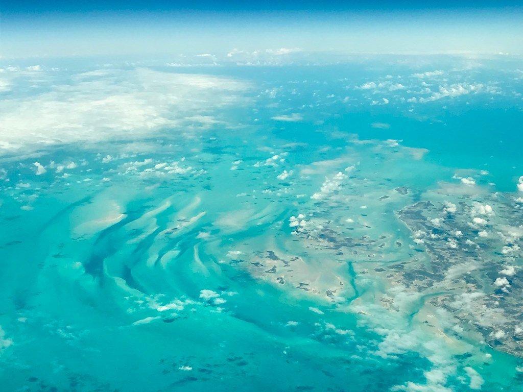 Les Bahamas vus de l'avion