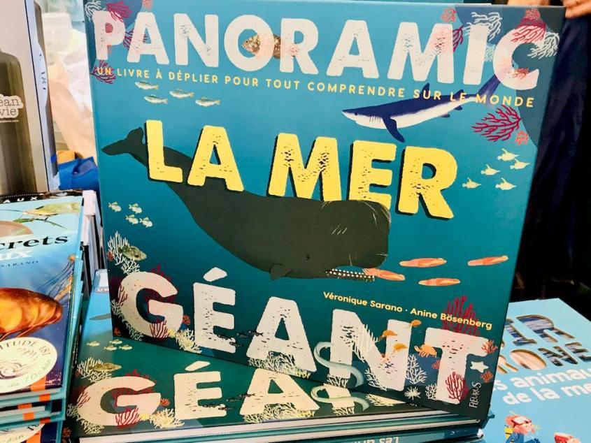 Le livre La Mer qui s'ouvre comme une grande carte est signé Véronique Sarano