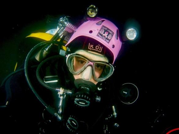 Stéphanie Romnée en plongée.