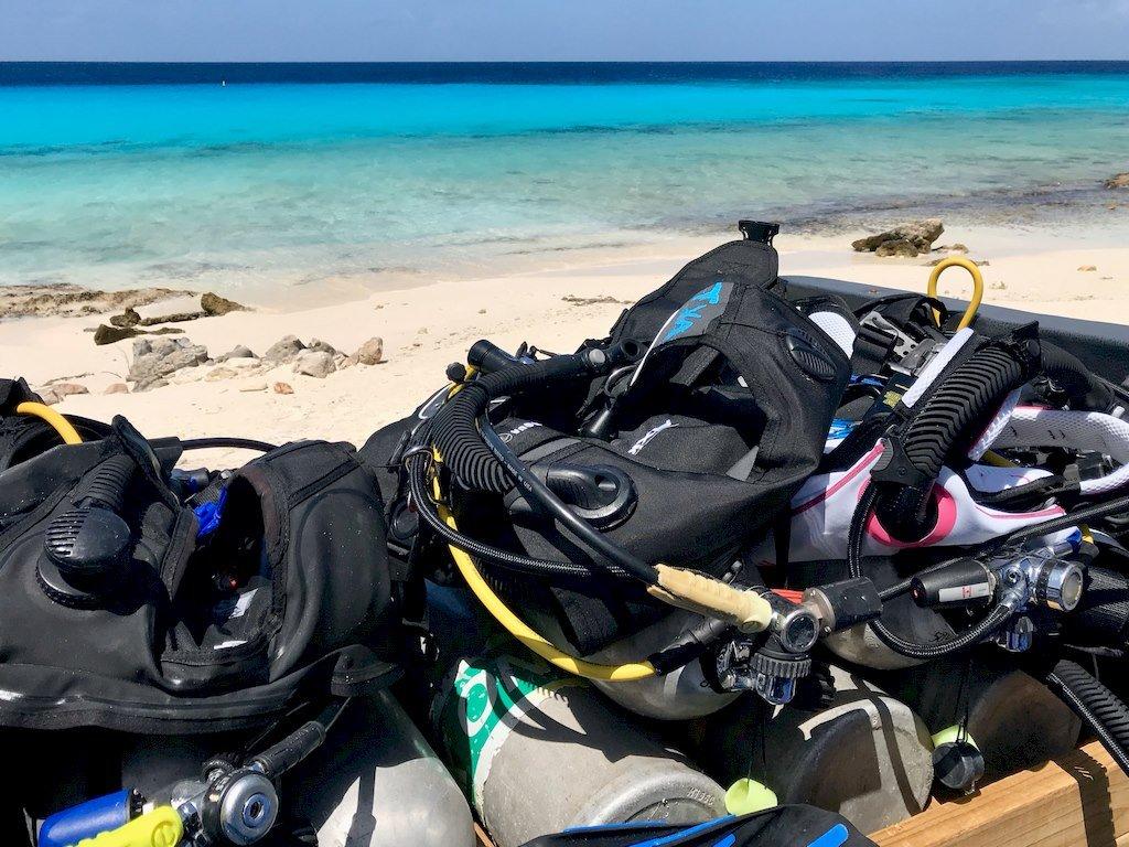La plongée du bord est une pratique courante à Bonaire.