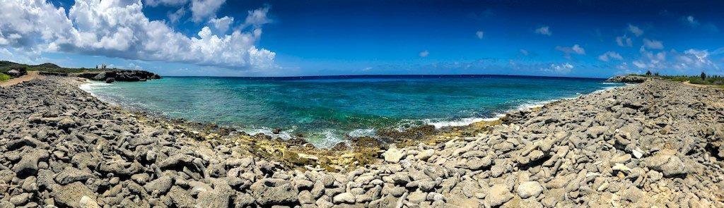 Paysage du nord de l'île de Bonaire.