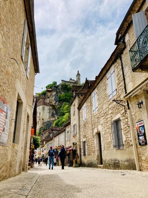 Village de Rocamadour dans le Lot.
