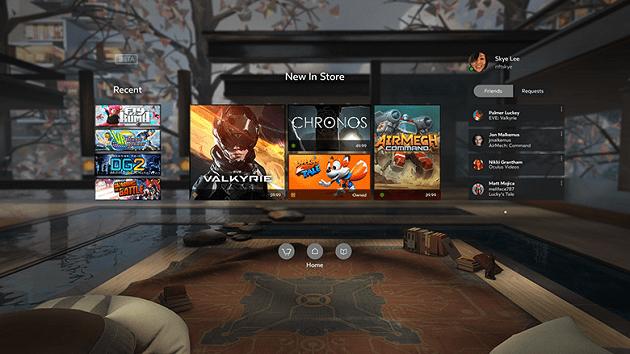Oculus Home screen