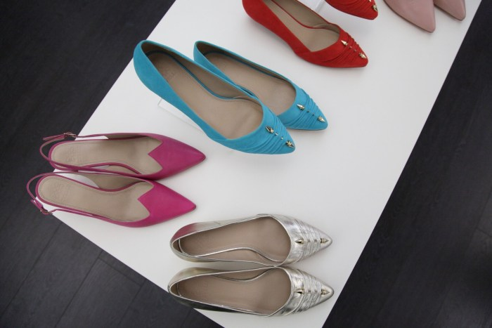 Zvelle shoes on display in the Zvelle Toronto Studio. Photo Credit: Marayna Dickinson.