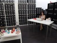 Elle at work in the Zvelle Studio, Toronto. Photo Credit: Marayna Dickinson.