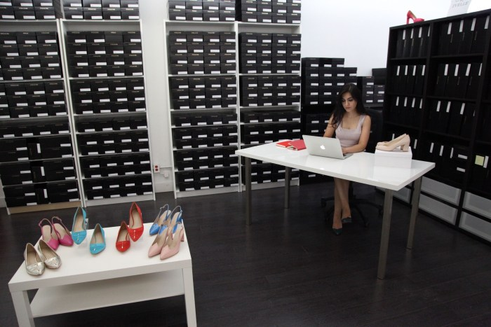 Elle at work in the Zvelle Studio, Toronto. Photo Credit: Marayna Dickinson.