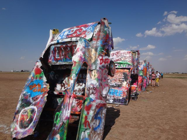 Cadillac Ranch near Amarillo Texas