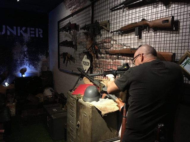 Bunker 1942 is a bar in Taipei with a shooting gallery. You can shoot rifles with a beer. It's definitely one of the more unusual things to do in Taipei