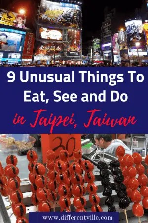 Taipei, Taiwan surprised me - it was so much calmer than I expected with a heap of quirky things to eat, see and do. Here's my pick on nine unusual things to do in Taiwan - including a haunted hotel, a supercheap hot spring and what I ate at the Taipei night markets. #taipei #thingstodointaipei #taiwan