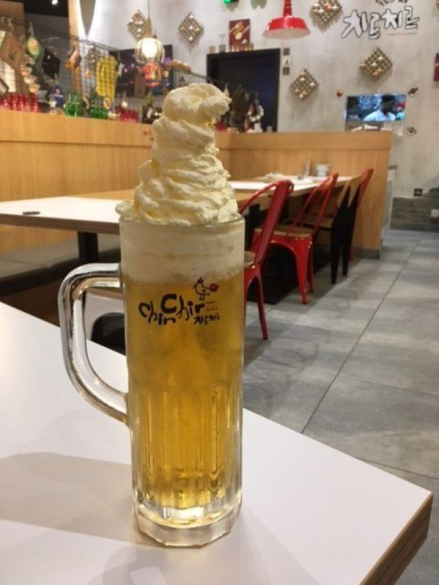 Whipped cream beer is just one of the fun foodie things you can do in Kuala Lumpur