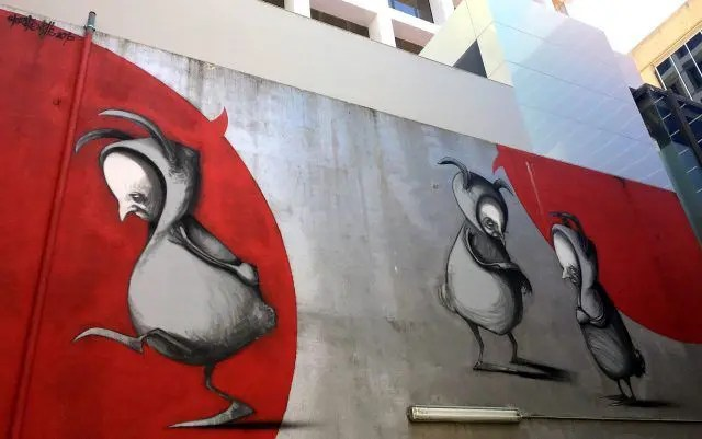 This mural by street artist Stomie Mills was my favourite piece of Perth street art - and one of the things you see on the Oh Hey WA Perth Walking Tour
