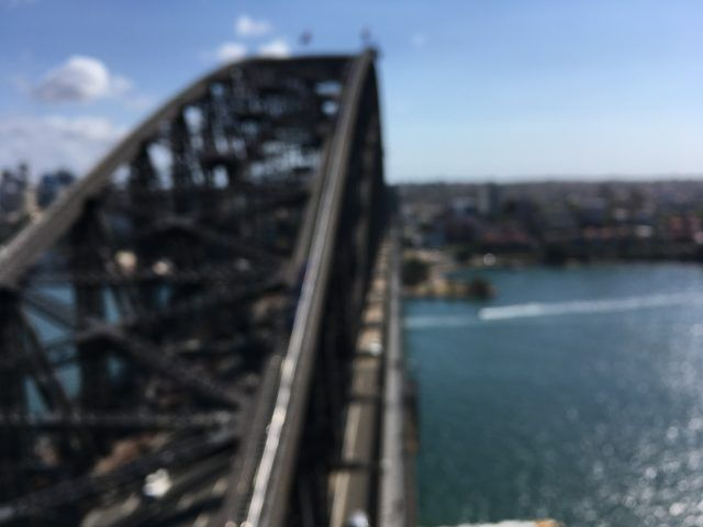 The view from the Sydney Harvour Bridg ePylon Lookout once the vertigo fears kicked in!