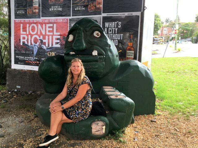 You'll find the Annandale Troll in Sydney's west, close to Rozelle Bay light rail station - he's also the starting point of our Glebe Foreshore Walk.