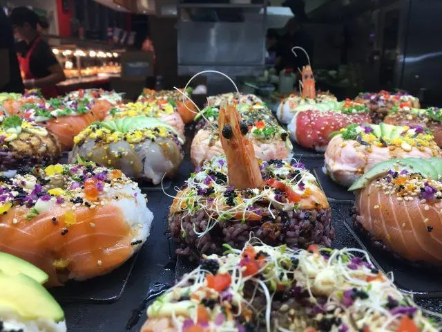 Sushi donuts from Doshi at Sydney Fish Market