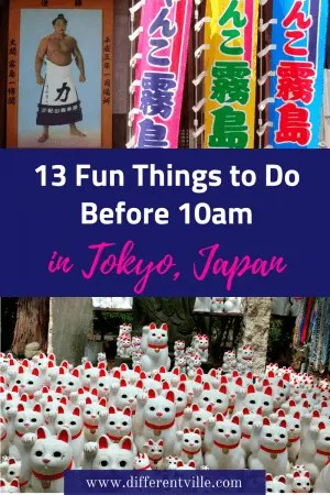 Tokyo is not an early morning town - or so you might think when you first visit, but actually there are lot of early morning things to do in Tokyo. Click to find 13 brilliant ideas. #tokyo #earlymorningintokyo #thingstodointokyo