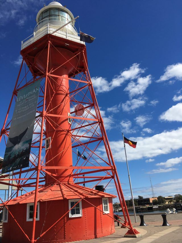 Port Adelaide is an easy day trip from Adelaide. Visit the lighthouse, the dolphins and the street art.