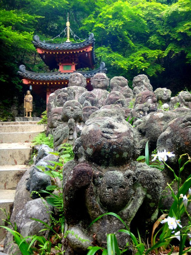 Otagi Nenbutsu-ki temple in Kyoto is full of small stone figures - each individually carved with their own personality. If you're looking for unusual things to do in Kyoto add this to your list.