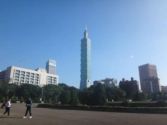 Image of Taipei 101 taken from Dr Sun Yat Sen Library