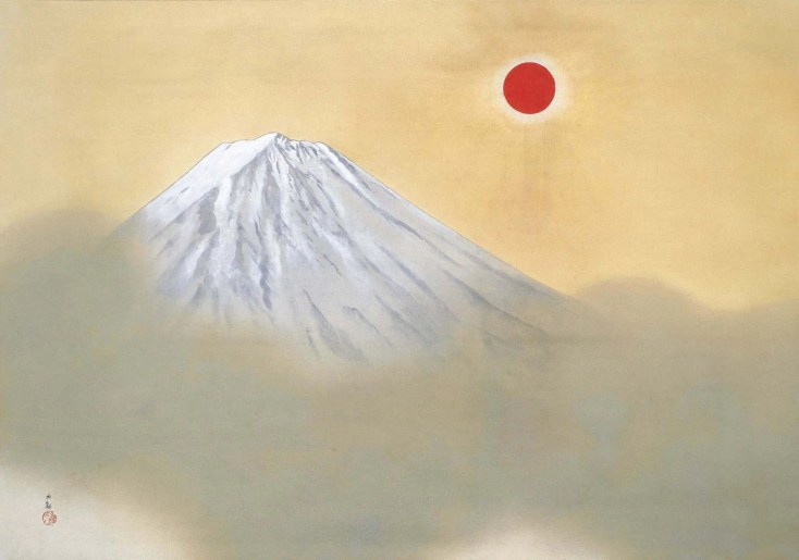 Painting of Mount Fuji by Japanese artist Taiken Yokoyama as displayed in the Adachi Museum of Art, Japan (used with permission of the museum).