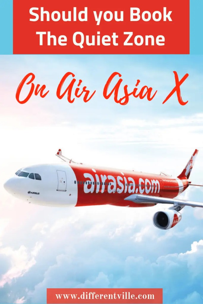 Air Asia plane flying in clouds