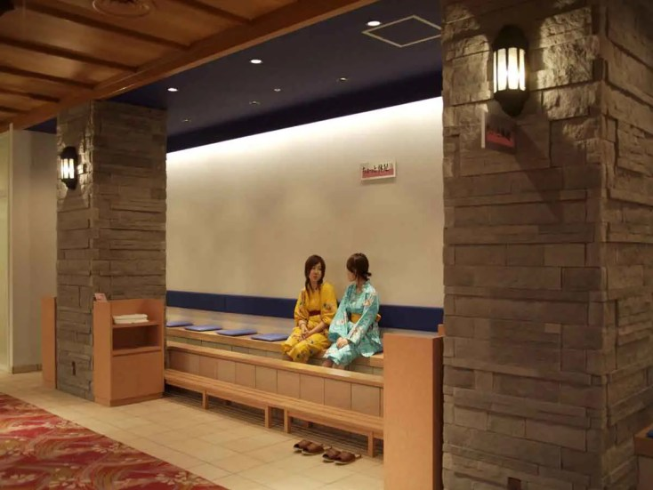 The foot bath in a hot springs hotel in Japan. These are a great alternative to a traditional ryokan for some travellers.