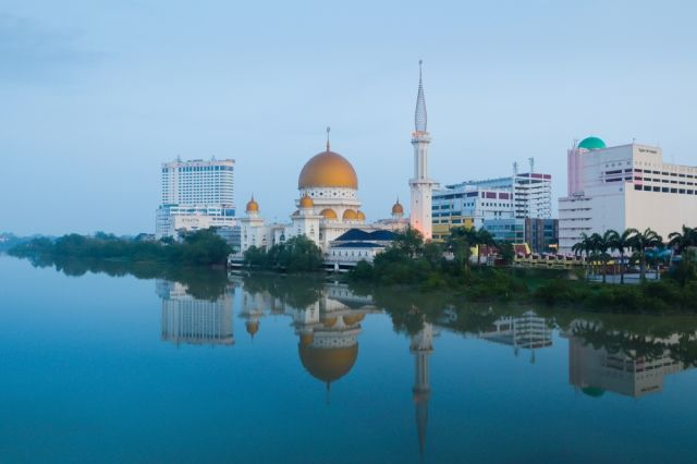 Klang City reflected in the towns river