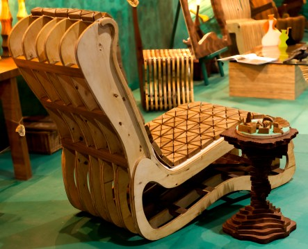 wooden upholestry chaise back
