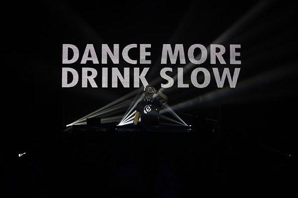 """OK, they said """"drink slow"""" and I said """"drink less"""". Close enough."""